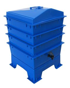 4 Tray Deluxe Tiger Rainbow Wormery Dark Cobalt Blue