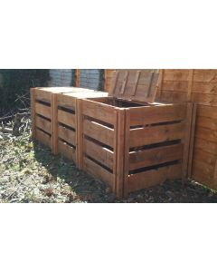 1150 Blackdown Range Triple Slotted Wooden Composter with Lids