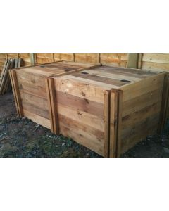 1200 Blackdown Range Double Standard Wooden Composter with Lids