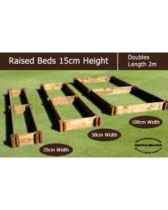 15cm High Double Raised Beds - Blackdown Range - 100cm Wide