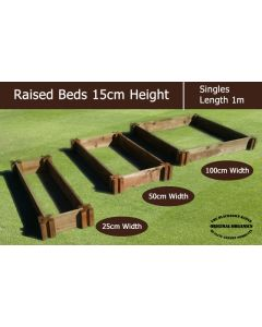 15cm High Single Raised Beds - Blackdown Range - 100cm Wide