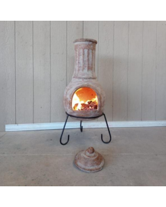 Extra-large Muro Mexican Chimenea in Ochre Red