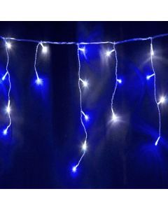 360 White/Ice Blue LED Snowing Icicle Lights With Speed Setting & White Cable