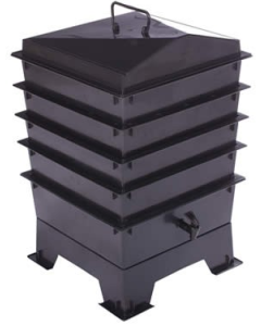 4 Tray Standard Tiger Wormery Black