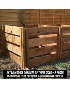 600 Blackdown Range Single Slotted Wooden Composter Extra Module