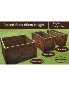 60cm High Single Raised Beds - Blackdown Range - 50cm Wide