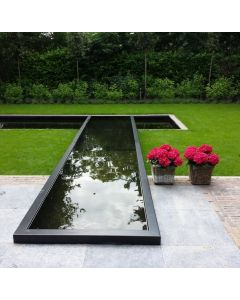 Black/Dark Grey Aluminium Pond 300 x 200 x 60cm