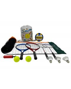Badminton Volleyball and Tennis Set with a 3 m Net