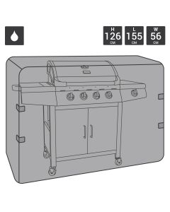 Heavy Duty Large Gas BBQ Cover - 4-6 Burner