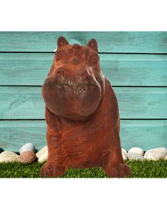 Happy Hippo Cast Iron Statue