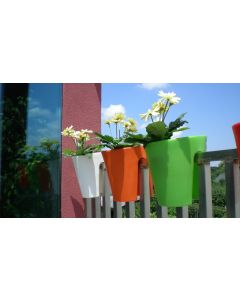Roto Balconee Easy To Hang Balcony Planter 30cm - White