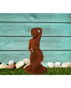 Fifties Nude Cast Iron Statue