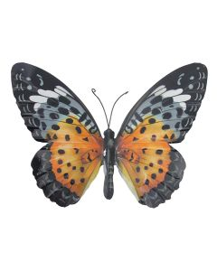 Large Orange and Black Butterfly Garden Ornament