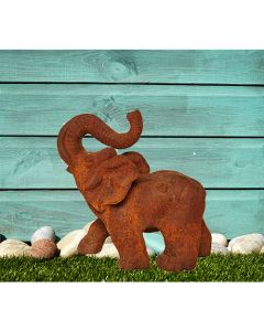 Majestic Elephant Cast Iron Statue