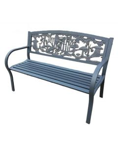 Steel Framed Cast Iron Bench With Fairies