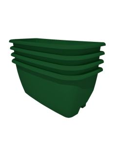 Rainwater Terrace 4 Pack Planter Kit - Dark Green (4 Planters & 4 Capillary Mats)
