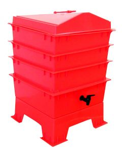 3 Tray Standard Pet & Dog Poo Wormery Electric Red
